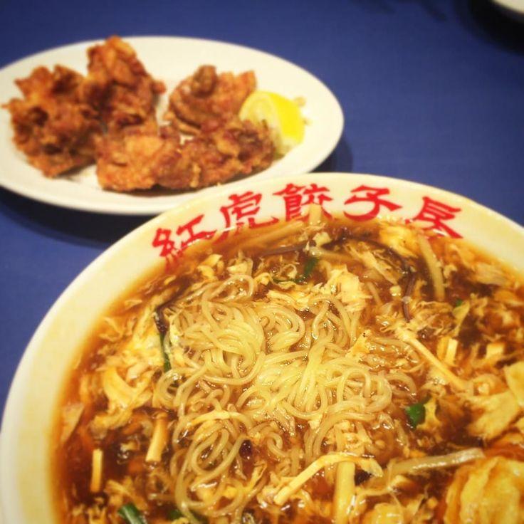 #お台場 #ヴィーナスフォート  #紅虎餃子房 #中華料理 #サンラータン麺 #酸辣湯麺 #唐揚げ ここのサンラータンはちょっと想像と違った(_;) #VenusFort #Odaiba #Tokyo by bl_k888