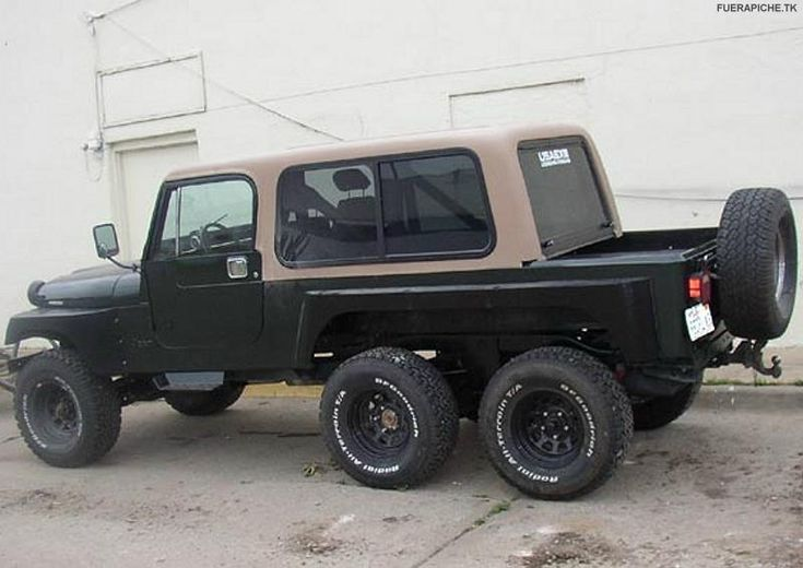 The weirdest jeeps we could find. You don't see jeep like this everyday.