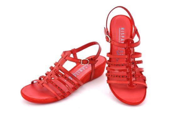 HISPANITAS HV37668 #shoes #moda #zapatos #hispanitas #fashion #sandal #wedge #red
