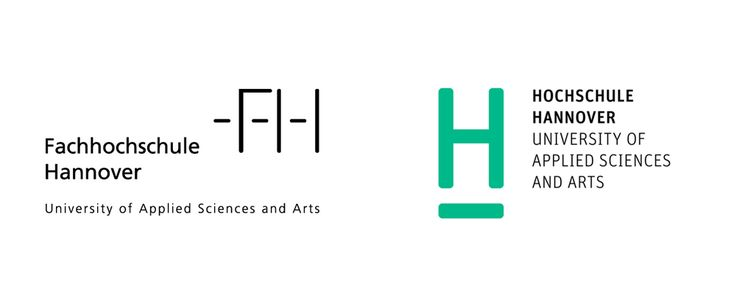 Brand New: New Logo and Identity for Hochschule Hannover by Anne Andrea