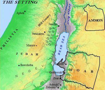 A map showing Lots descendants land