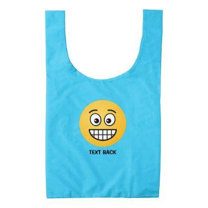 #Grinning Face with Open Eyes Reusable Bag - #emoji #emojis #smiley #smilies