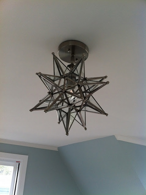 Shades of Light Bronze Moravian Star Ceiling Light seen on:  http://georgicapond