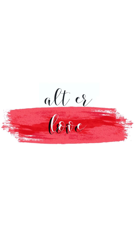 Floral Inspirational Quote Wallpaper Alt Er Love Red White Lockscreen Wallpaper Background