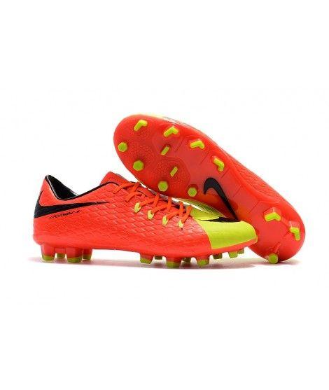 Nike Hypervenom Phelon III FG PEVNÝ POVRCH Oranžový Žlutý Černá Muži Kopačky