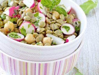 Cytrusowa sałatka z soczewicą i cieciorką | Blog kulinarny - oryginalne przepisy oraz porady kulinarne