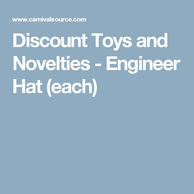 Discount Toys and Novelties - Engineer Hat (each)