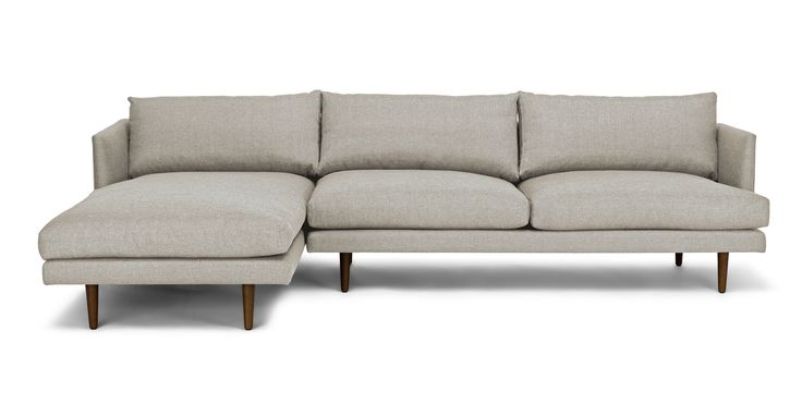 Burrard Seasalt Gray Left Sectional Sofa - Sectionals - Article | Modern, Mid-Century and Scandinavian Furniture