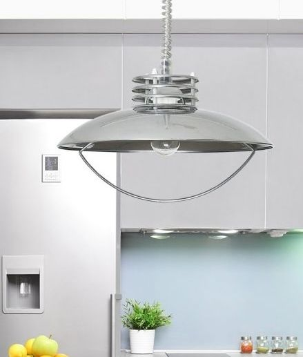 Modern rise and fall metal pendant with handle ideal for kitchens or dining tables. A beautiful design from Lighting Styles offered in three finishes.  sc 1 st  Pinterest & 7 best Work Studio lighting images on Pinterest | Light style ...