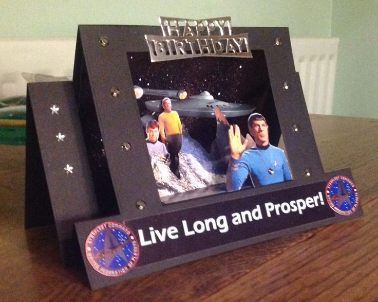 Scene stepper Star Trek birthday card