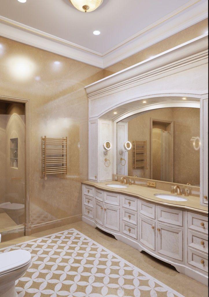 дизайн ванной в квартире классика от Н.Бахтинова  #bathroom by #Bahtinov more on http://bahtinov.ru/uslugi/dizayn-interera-kvartir/vannaya/