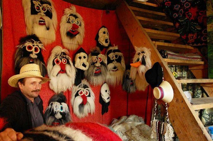 Maramures folk masks. Discover Maramures with Romania's Friends. www.romaniasfriends.com