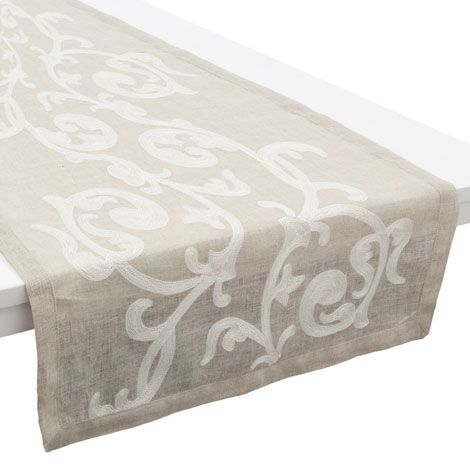 Embroidered table runner zara home united kingdom for Table zara home
