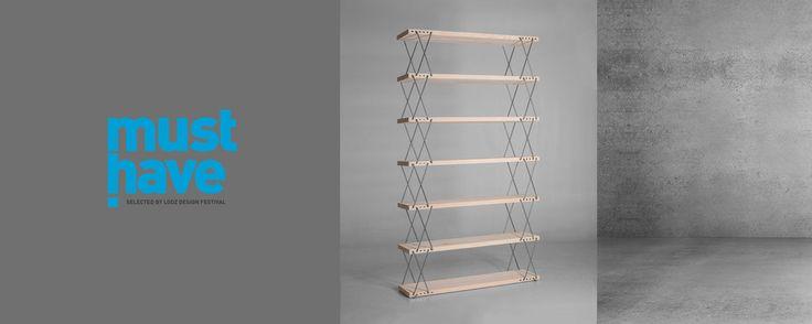 """Must Have 2014 award by Lodz Design for our bookcase. We are very glad! / Tytuł Must Have 2014 Łódz Design dla """"Regału o zmiennych wysokościach""""! Bardzo się cieszymy:)"""