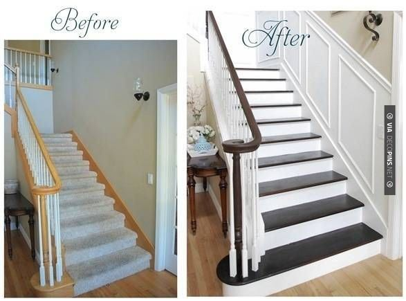 Superior Yes   Wainscotting On Staircase Walls | CHECK OUT MORE CROWN MOLDING AND  DIY CROWN MOLDING