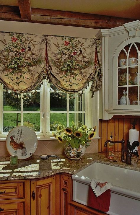 55 ideas farmhouse curtains kitchen window treatments valance ideas french country kitchens on farmhouse kitchen valance ideas id=66093