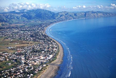 Paraparaumu, Kapiti Coast, Lower North Island, New Zealand - aerial