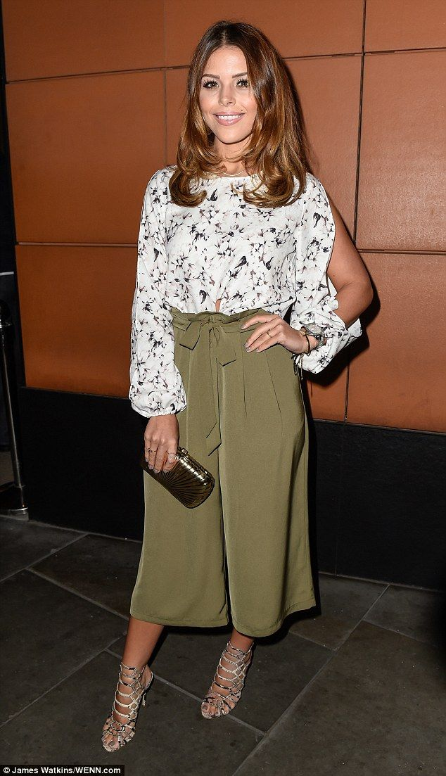 Stylish appearance: Chloe Lewis put her best foot forward for her collection launch with Little Mistress on Thursday night