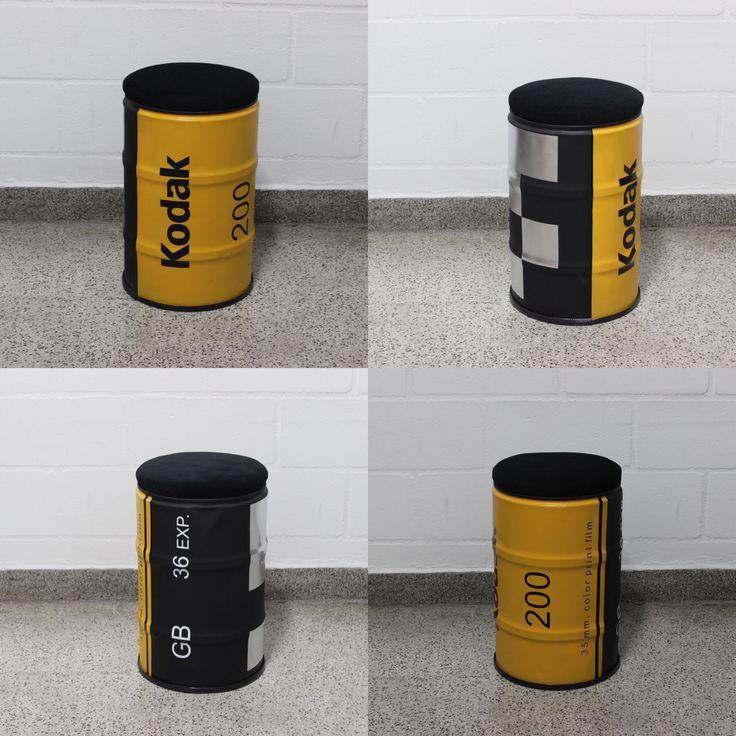 Kodak Film #kodak  #drum #oildrum #industrialdesign #barril #rebecaguerra #lata #decoração