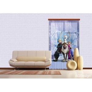 Jégvarázsos függöny, Anna #függöny #lakástextil #lakberendezés #gyerekszoba #jégvarázs #elsa #frozen