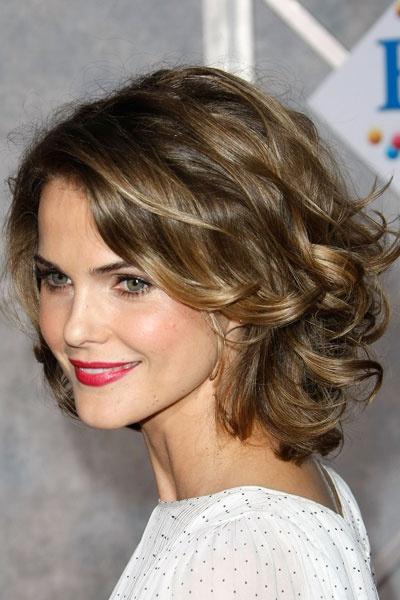 Les stars aux cheveux frisés: Keri Russell. Photo: GETTY images