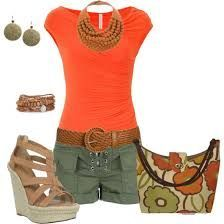 Cute late summer polyvore outfit! I would wear this near the end of school w/o the heels, purse (possibly, necklace) though.