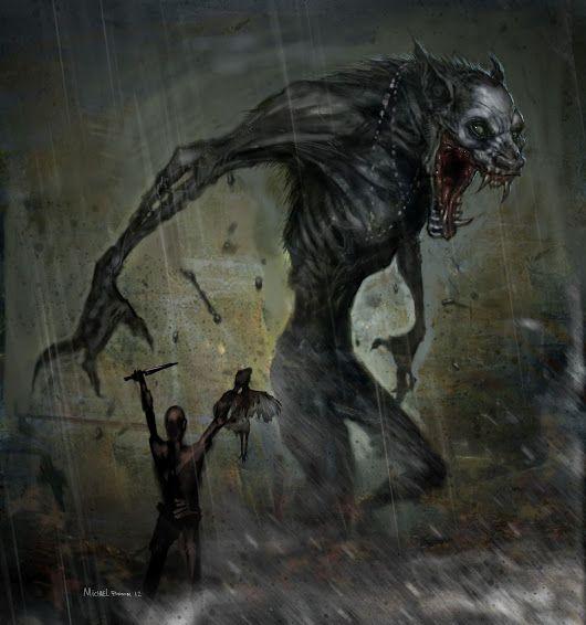 Damn... that's a big effin' werewolf @_@