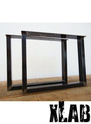 2 gambe in ferro anticato per tavoli da soggiorno 70x70