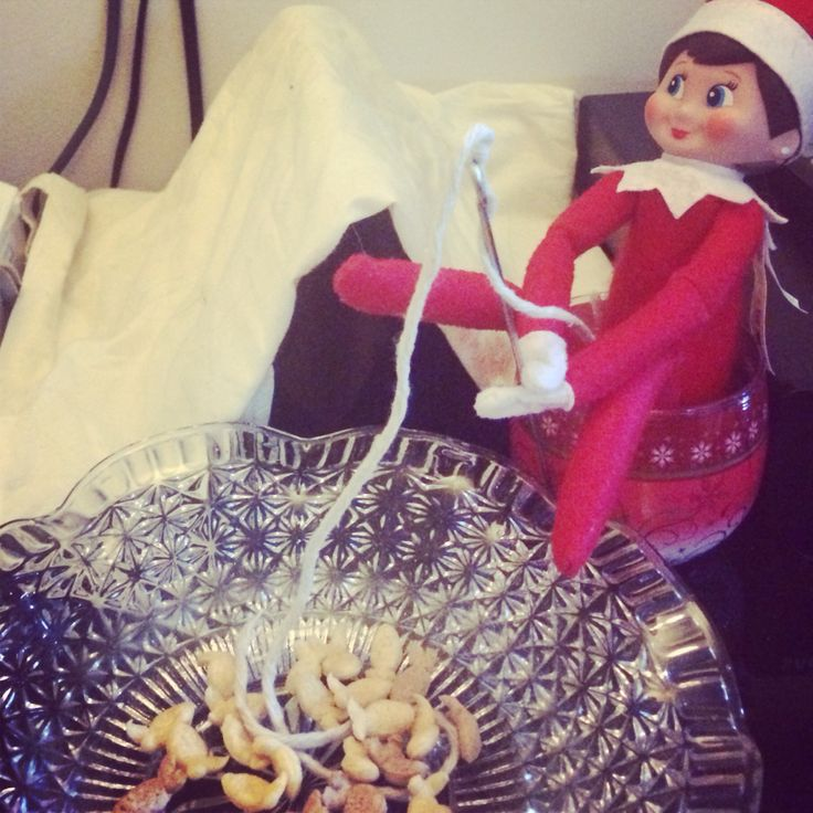 Camp elf!!  Mitsy just doing some fishing!!!
