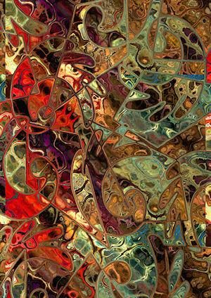 Textile Art Panel Abstract Fiber Art Mixed Media Fabric Charmeuse Silk Abstract | jacquedesigns - Fiber Arts on ArtFire