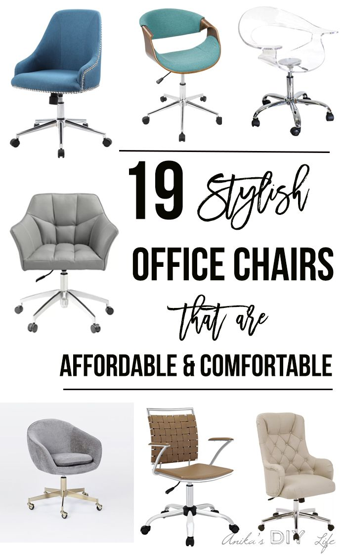 Stylish Office Chairs Are A Girl Boss Dream Finding A Chair That Is Comfortable Enough To S Stylish Office Chairs Home Office Chairs Affordable Office Chairs