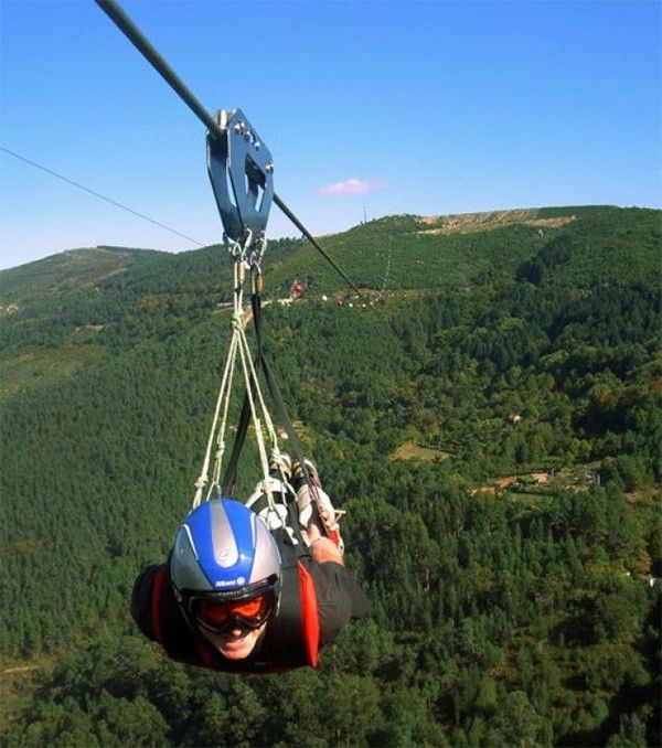 Deportes extremos de aventura - Tirolina #deporte #tirolina #aventura #montaña #deporteextremo