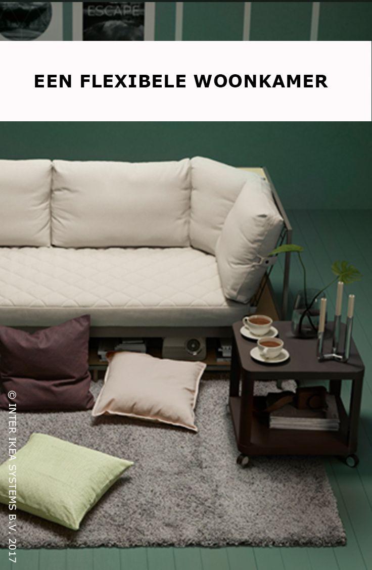 Je allereerste woonkamer inrichten zonder je budget te overstijgen? Het kan! Ga voor een tafel op wieltjes, extra kussens en een vloerkleed om je woonkamer een zachte toets te geven. TINGBY Bijtafel op wielen, 29,99/st. #IKEABE #IKEAidee  Decorating your first living room on a budget? It's possible! Opt for a table with castors, extra cushions and a rug to add a soft touch to your small living room. TINGBY Side table, 29,99/pce. #IKEABE #IKEAidea