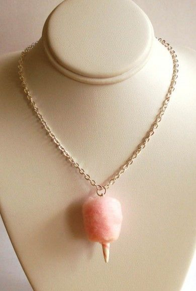 Pink https://sincerelysweetboutique.com/shop-collections/pink.html #pink #thinkPink #sincerelysweet - Necklace - Concession Delight Cotton Candy Charm Necklace in Pink