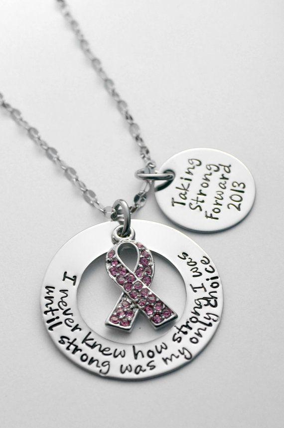 Breast Cancer necklace Survivor Necklace by LauriginalDesigns, $32.00