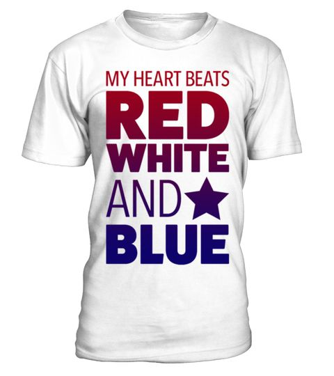 American Heartbeat - RED WHITE AND BLUE