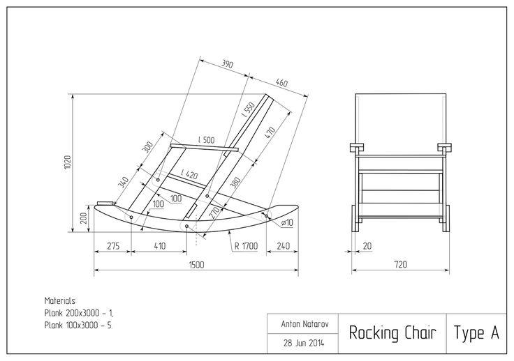 размеры и пошаговая инструкция плетения кресла качалки