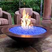 A Fire and Water Gas Fire Pit. Yes that is Water...I totally would love to have this :)