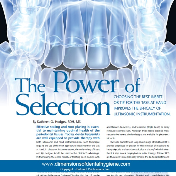chrome hearts forever ring price Dimensions of Dental Hygiene January 2013 Issue   The Power of Selection   CHOOSING THE BEST INSERT OR TIP FOR THE TASK AT HAND IMPROVES THE EFFICACY OF ULTRASONIC INSTRUMENTATION  By Kathleen O  Hodges  RDH  MS  dentalhygiene  dimensionsofdentalhygiene  ultrasonics