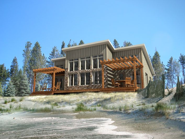 Petit soleil model by beaver homes and cottages includes for Modular beach cottages