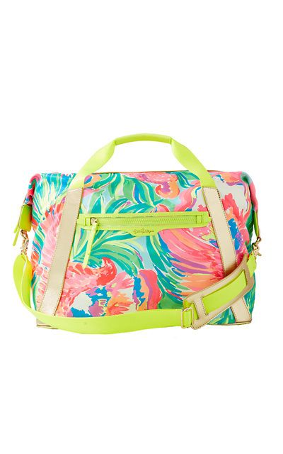 Lilly Pulitzer Paradise Bound Sunseekers Travel Tote Bag
