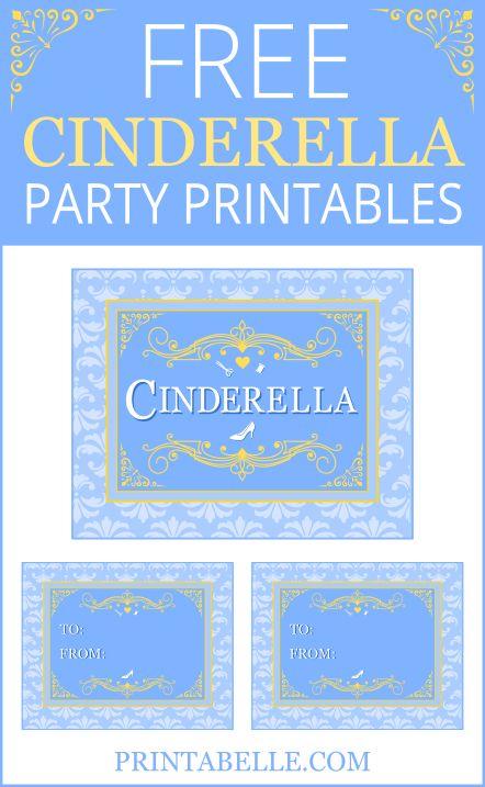 Free Cinderella Party Printables