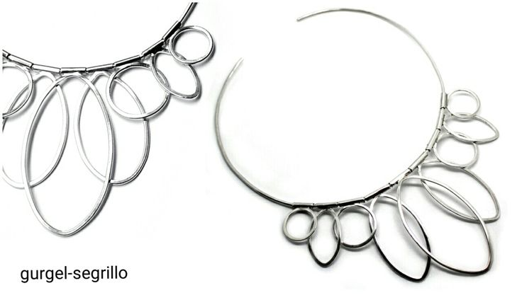 'eterica' series of art jewellery handcrafted in silver by gurgel-segrillo