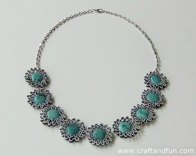 #Tutorial - Necklace with semi-precious stones and Recycled #Nespresso Coffee Capsules