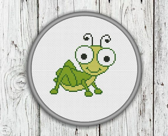 22 best cross stitch insects images on pinterest cross for Grasshopper tattoo supply