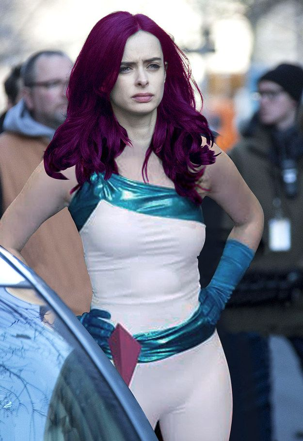 "Our hero, Jessica, would have purple hair and would actually wear that Jewel outfit Trish suggested (for a while). | If The Characters On ""Jessica Jones"" Looked Like They Did In The Comics"