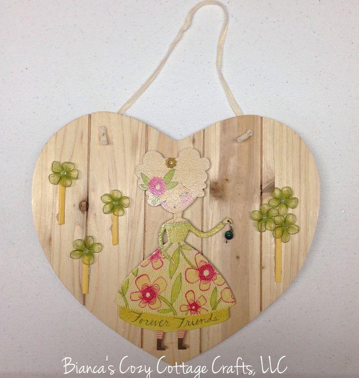 Hanging Heart Wall Decor : Wooden heart wall hanging door hanger