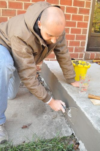 How to Repair Cracked Concete. #HomeImprovement #DIY #OneProjectCloser