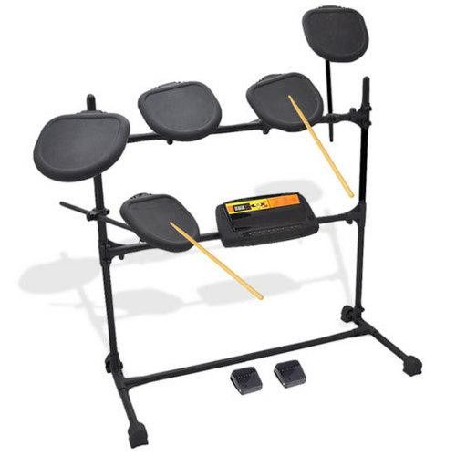 Electronic Drum Set with Natural Response Drums - Includes 5 Drum Pads and Fully Adjustable Drum Rack