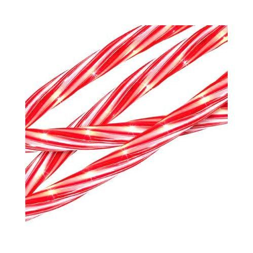 18' Red and White Candy Cane Indoor/Outdoor Christmas Rope Lights: Christmas Decor : Walmart.com